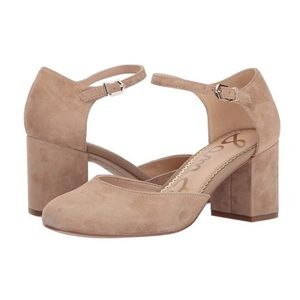 Sam Edelman Clover Tan Pump Sandals Suede 8.5